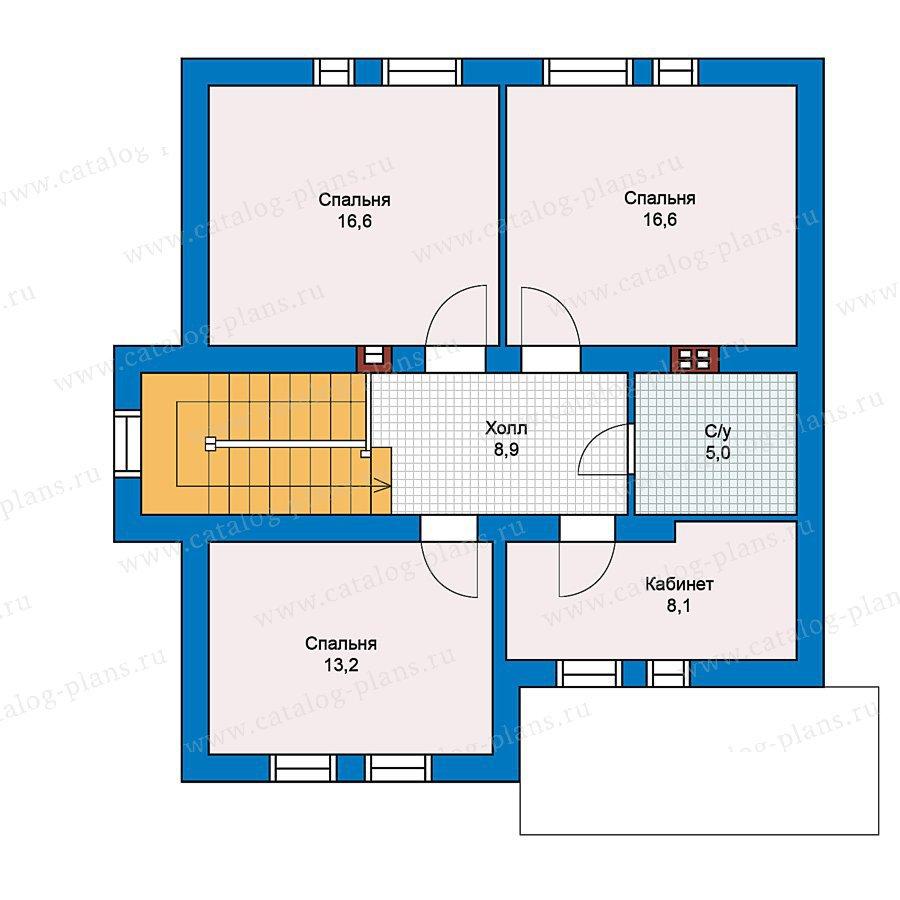 План 2-этажа проекта 59-36