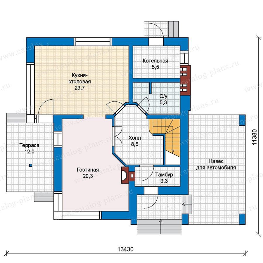 План 1-этажа проекта 59-23