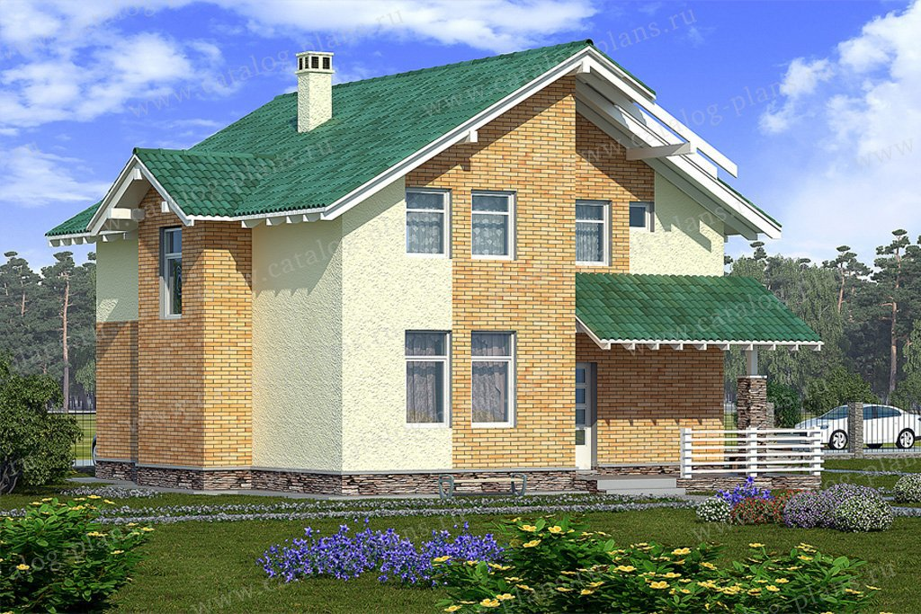 Проект жилой дом #59-36 материал - газобетон, стиль современный
