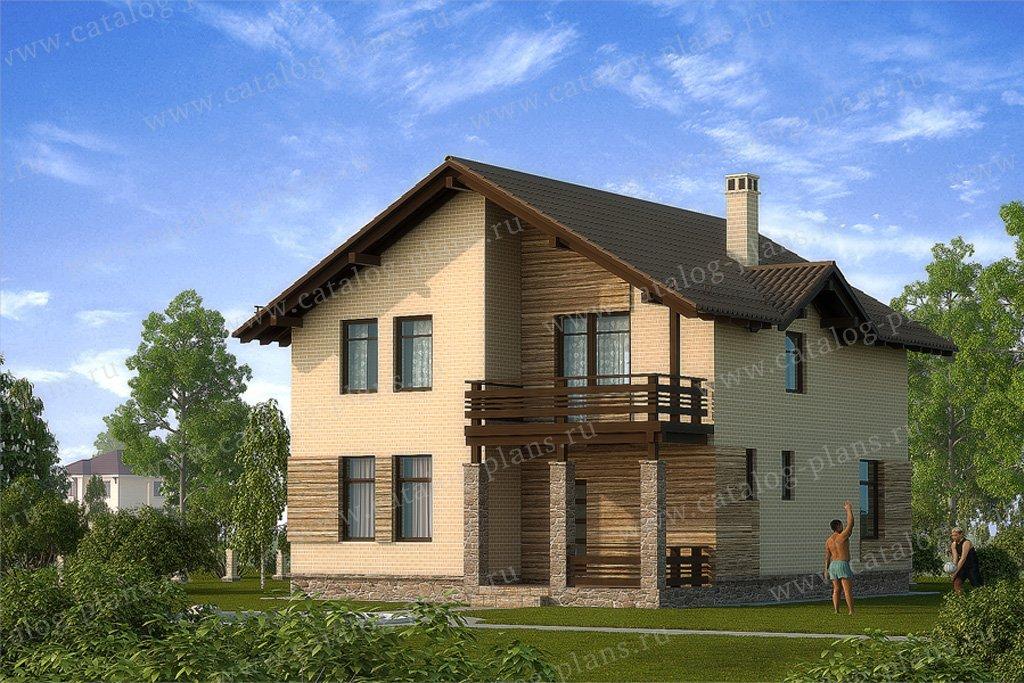 Проект жилой дом #59-35 материал - газобетон, стиль скандинавский