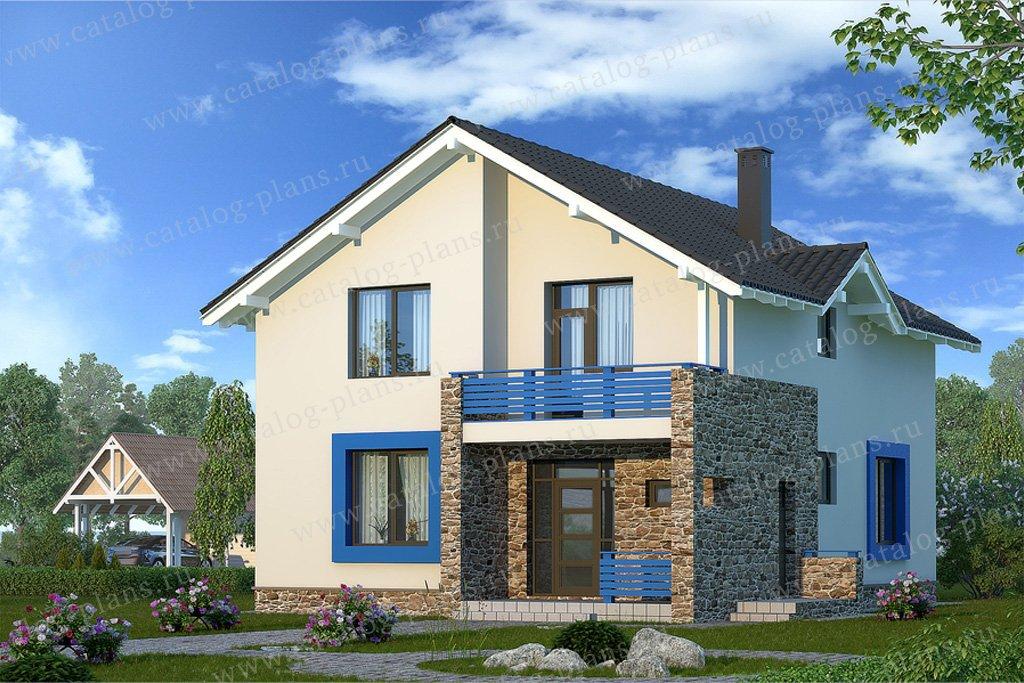 Проект жилой дом #59-34 материал - газобетон, стиль современный