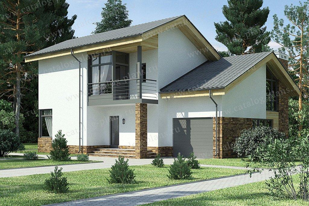 Проект жилой дом #59-24 материал - газобетон, стиль скандинавский