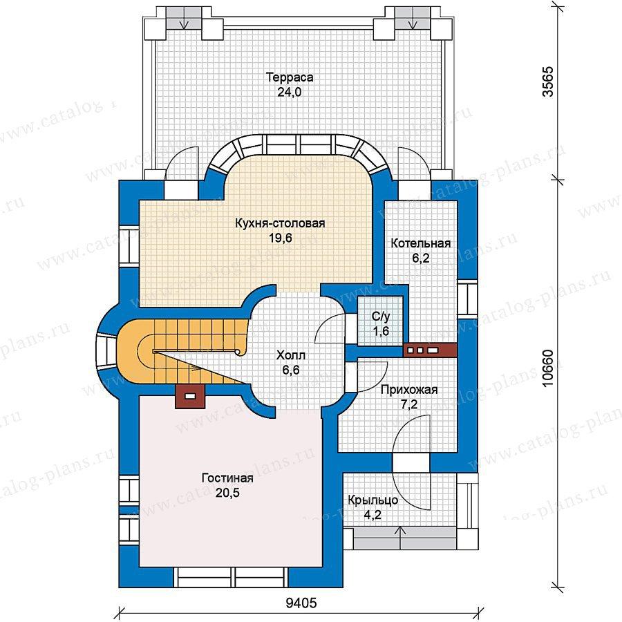 План 1-этажа проекта 59-28