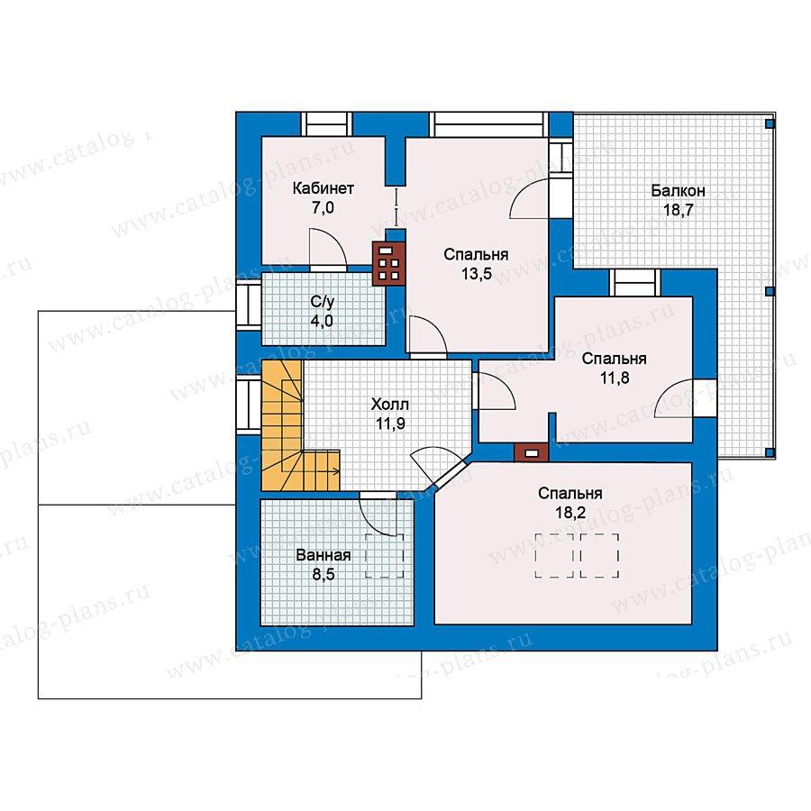 План 2-этажа проекта 59-27