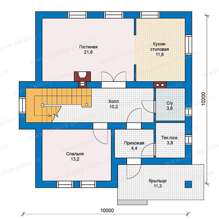 План 1-этажа проекта 59-36