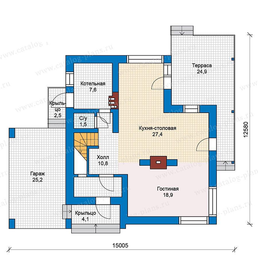 План 1-этажа проекта 59-27