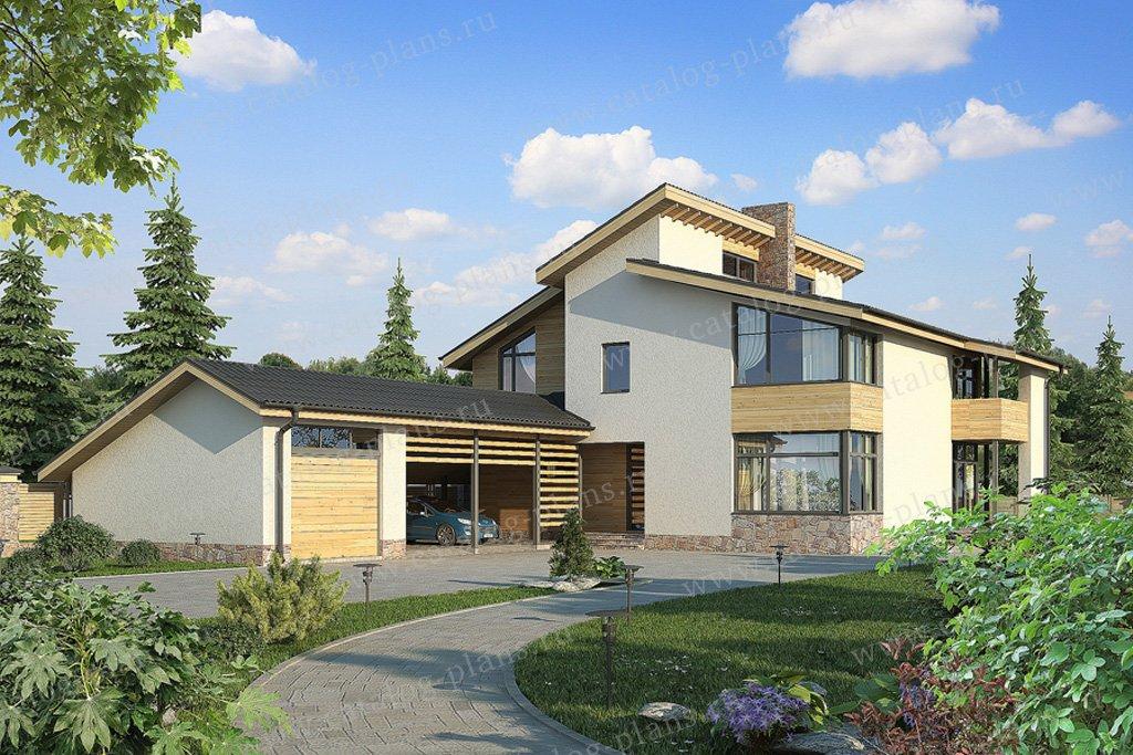 Проект жилой дом #59-26 материал - газобетон, стиль скандинавский