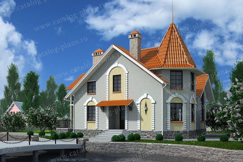 Проект жилой дом #59-39 материал - газобетон, стиль классический