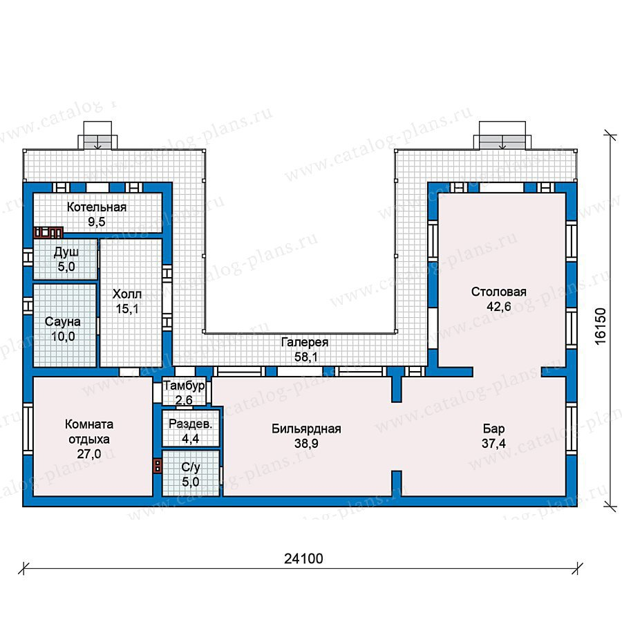 План 1-этажа проекта 59-29
