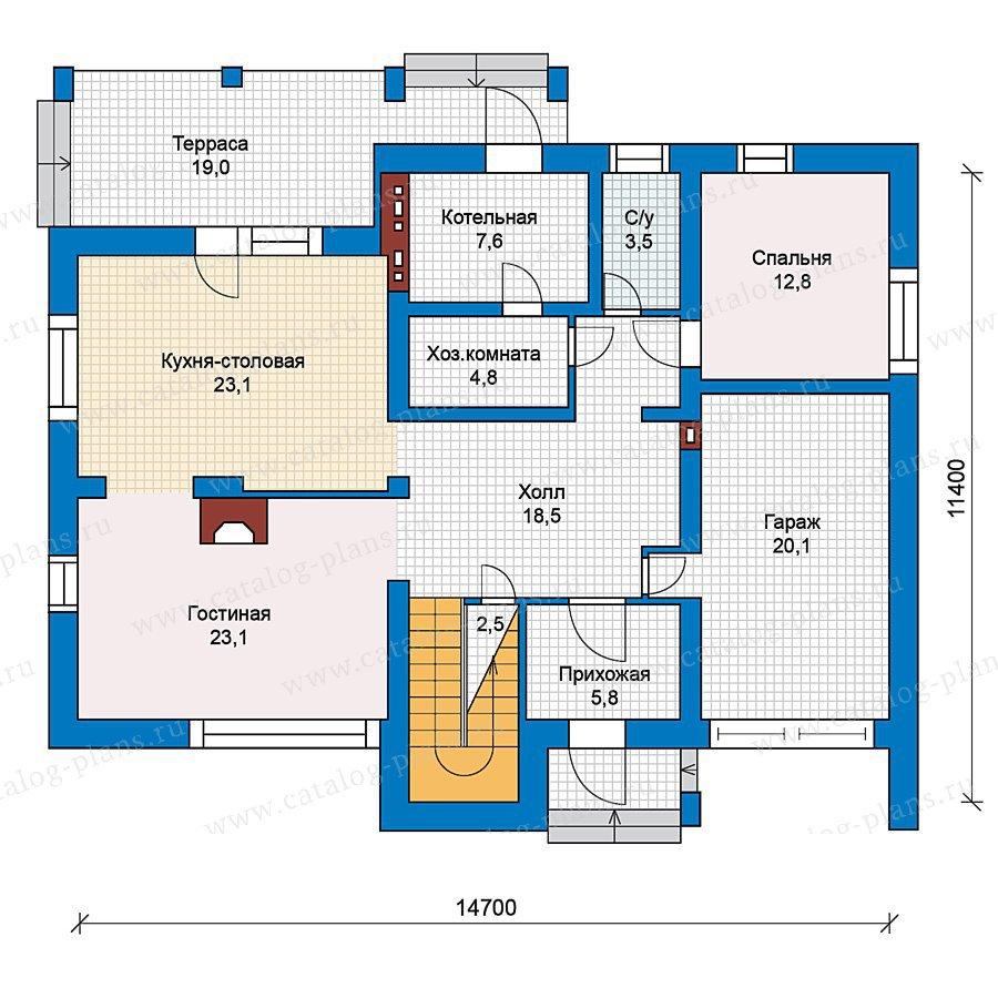 План 1-этажа проекта 59-25
