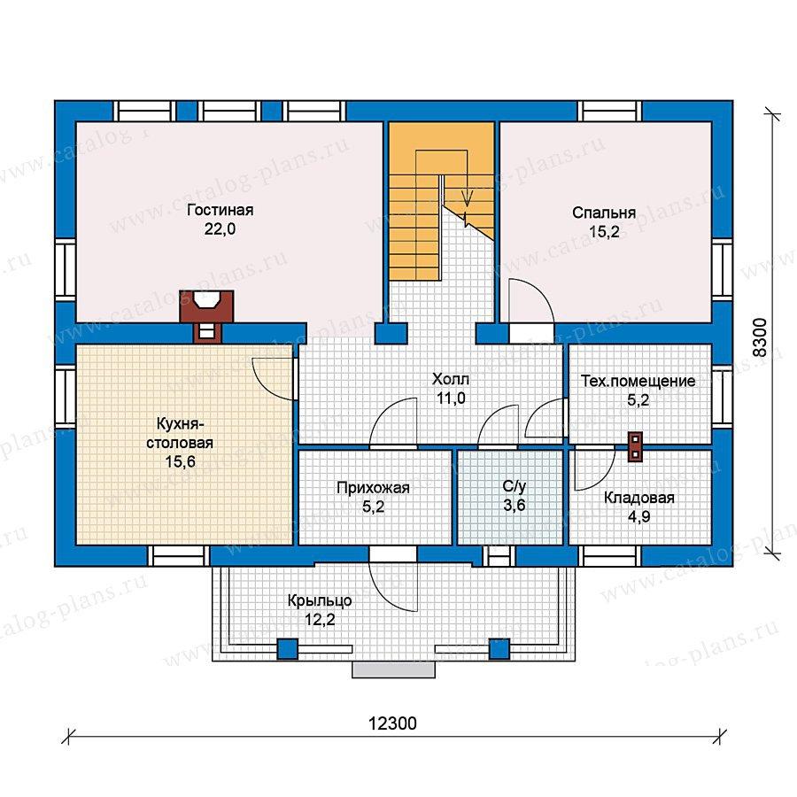 План 1-этажа проекта 59-31