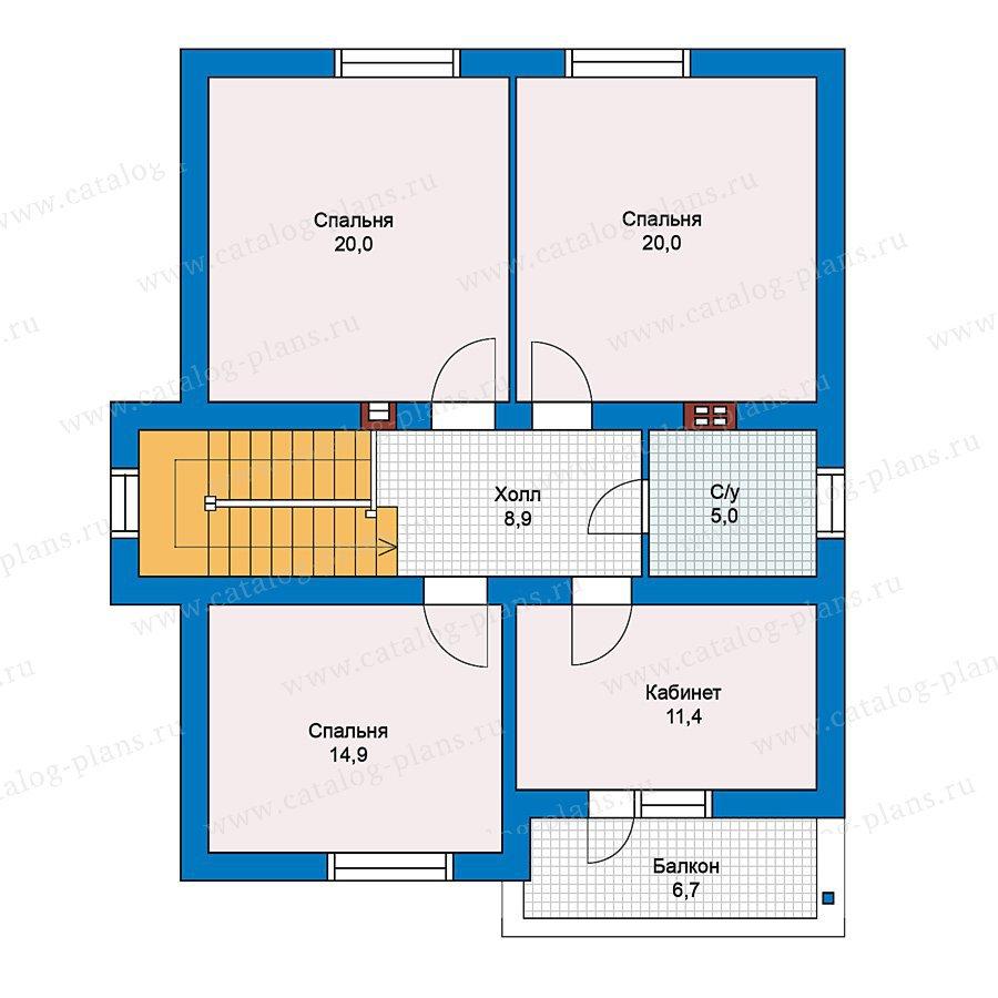 План 2-этажа проекта 59-34