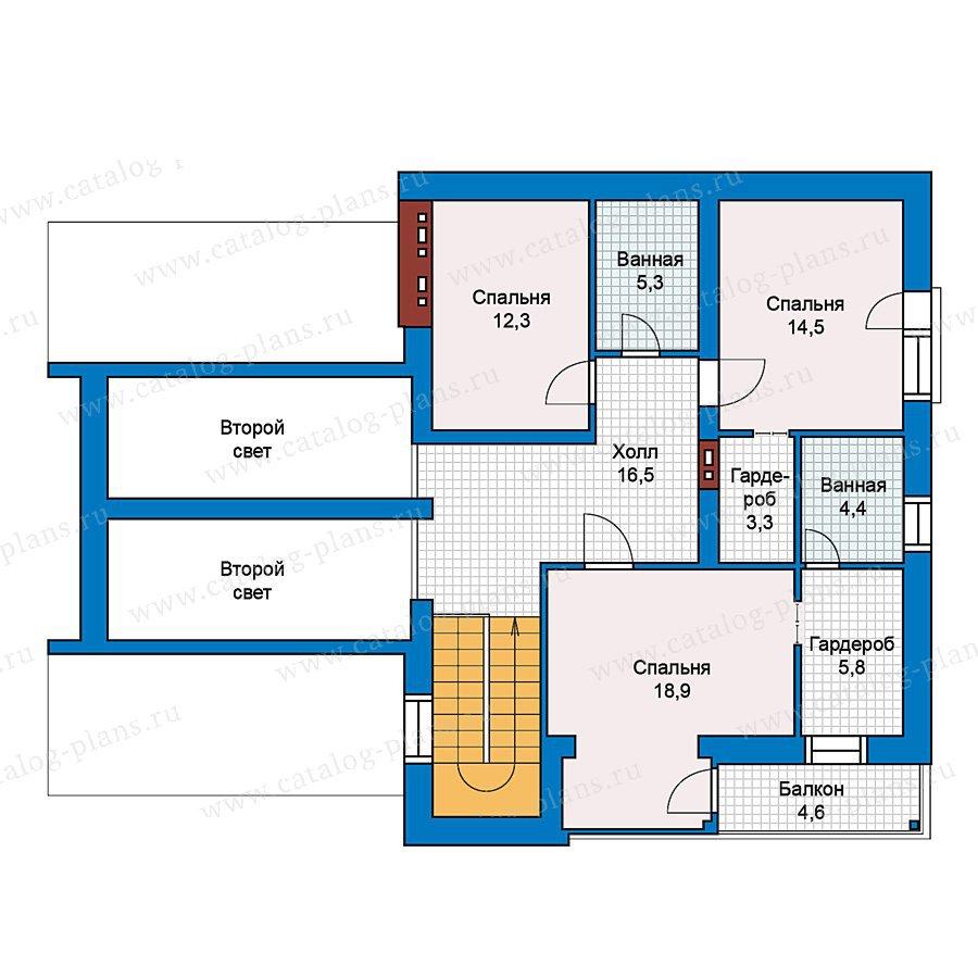 План 2-этажа проекта 59-25