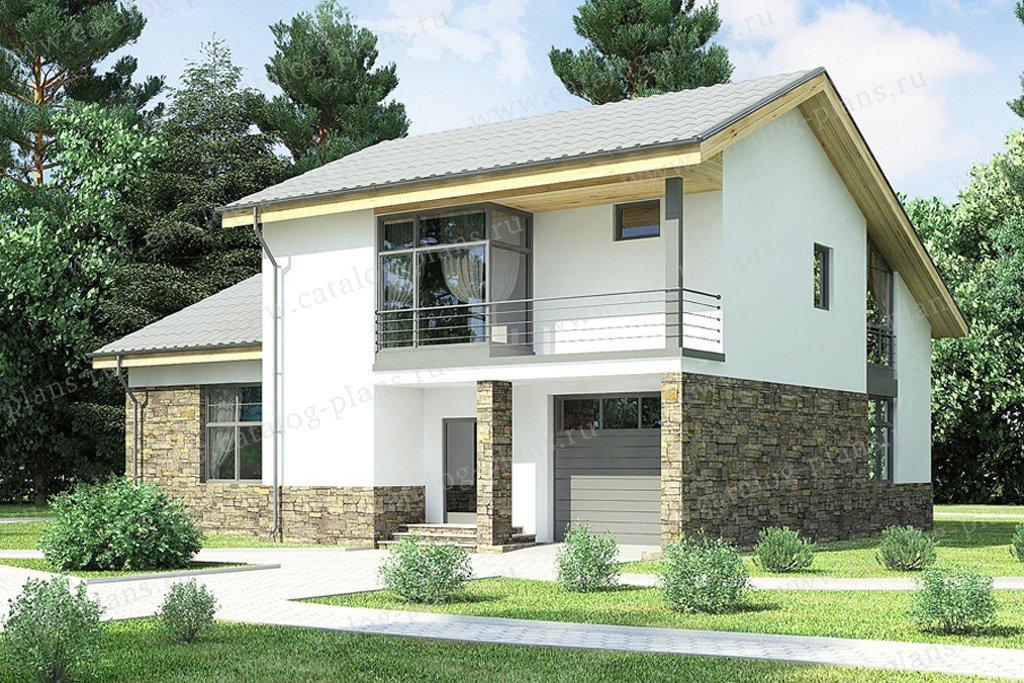 Проект жилой дом #59-25 материал - газобетон, стиль скандинавский