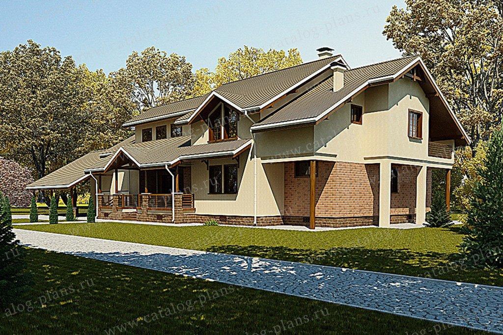 Проект жилой дом #59-60 материал - газобетон, стиль европейский