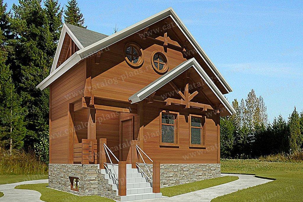 Проект жилой дом #59-66 материал - газобетон, стиль европейский