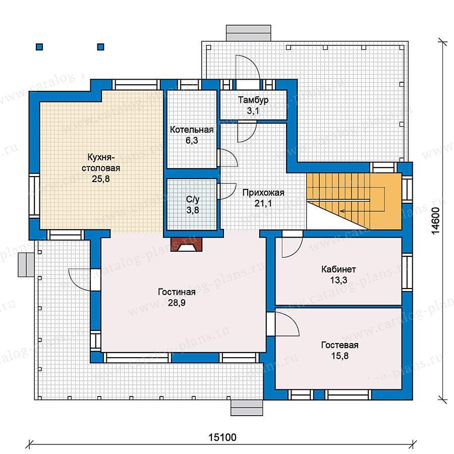 План 1-этажа проекта 59-43