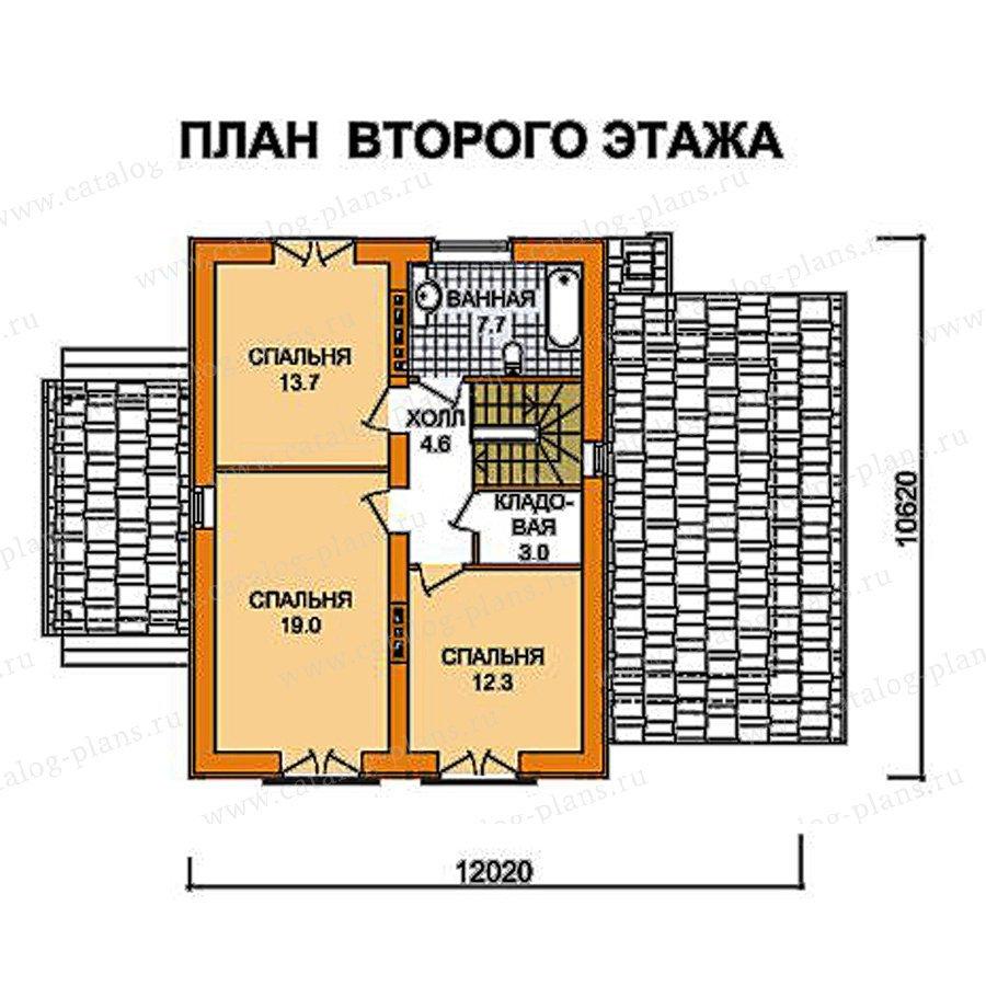 План 2-этажа проекта 59-46