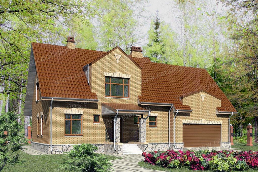 Проект жилой дом #59-56 материал - газобетон, стиль классический