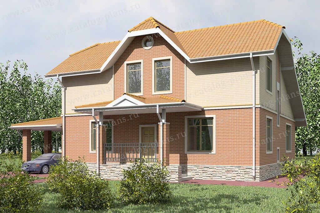 Проект жилой дом #59-41 материал - газобетон, стиль европейский