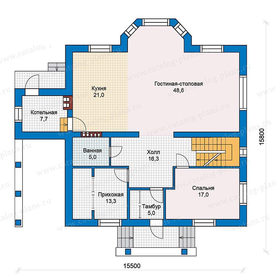 План 2-этажа проекта 59-41