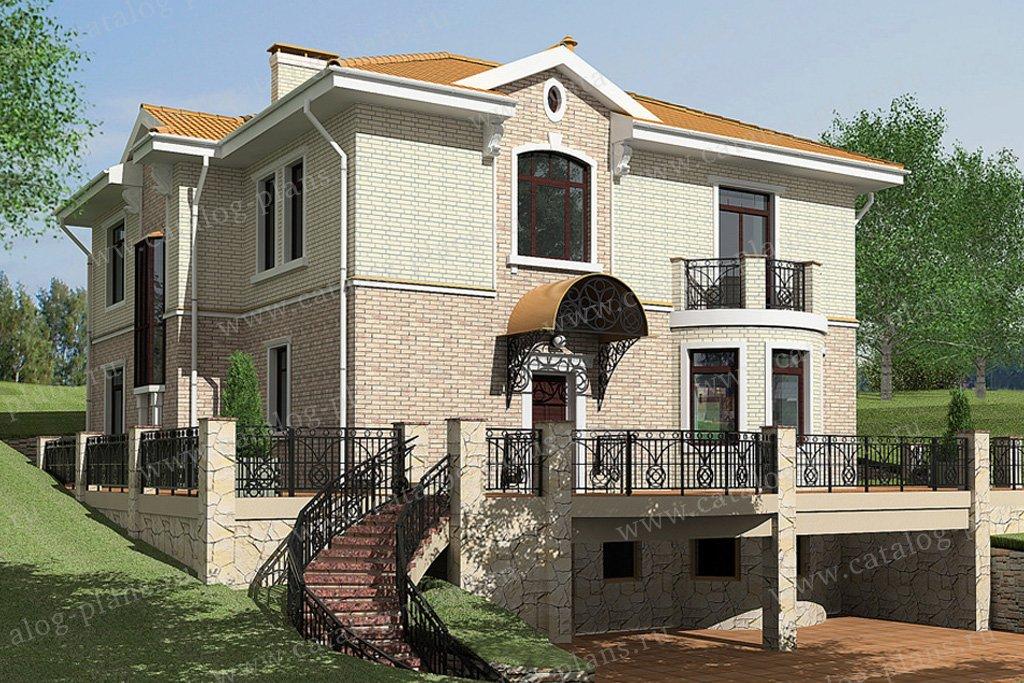 Проект жилой дом #59-42 материал - газобетон, стиль современный