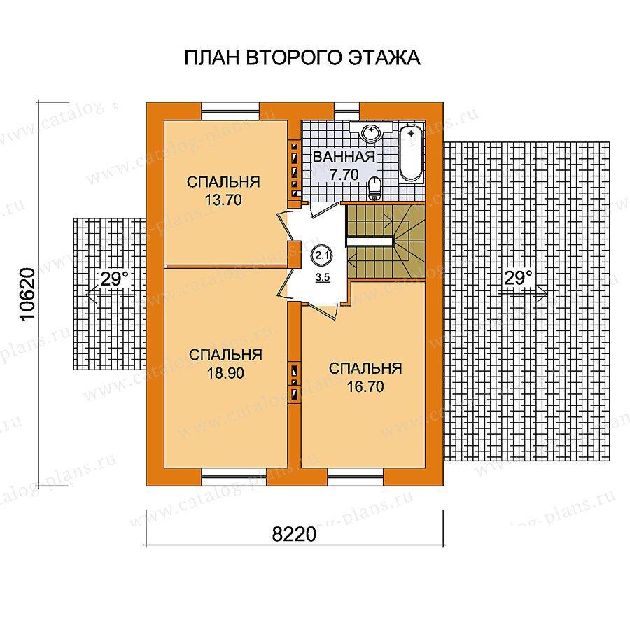 План 2-этажа проекта 59-45