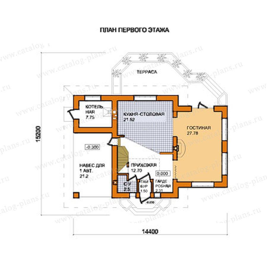 План 1-этажа проекта 59-44