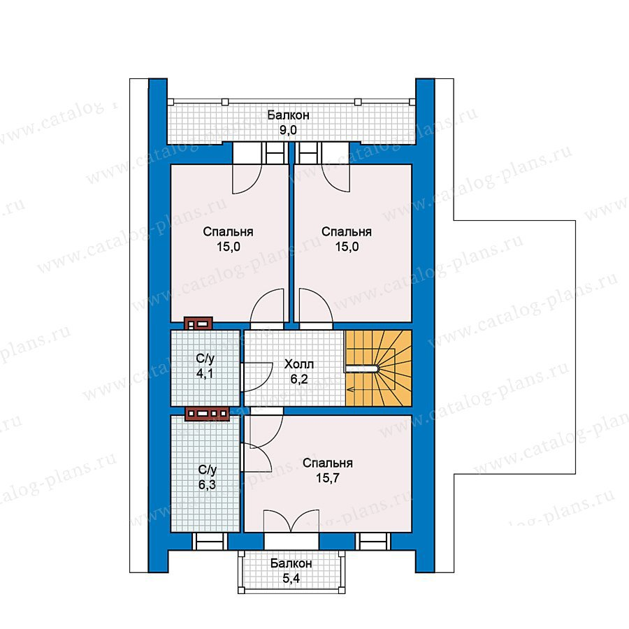 План 2-этажа проекта 59-40