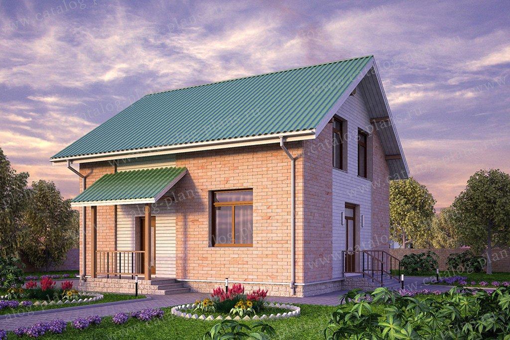 Проект жилой дом #59-53 материал - газобетон, стиль современный