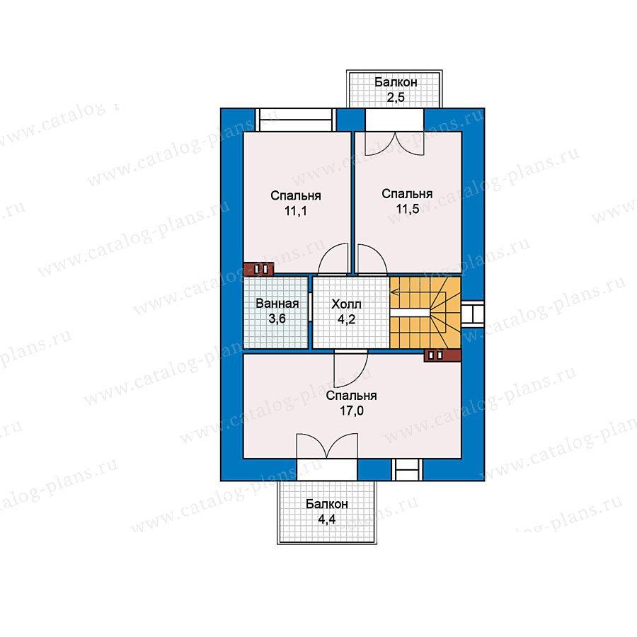 План 2-этажа проекта 59-37