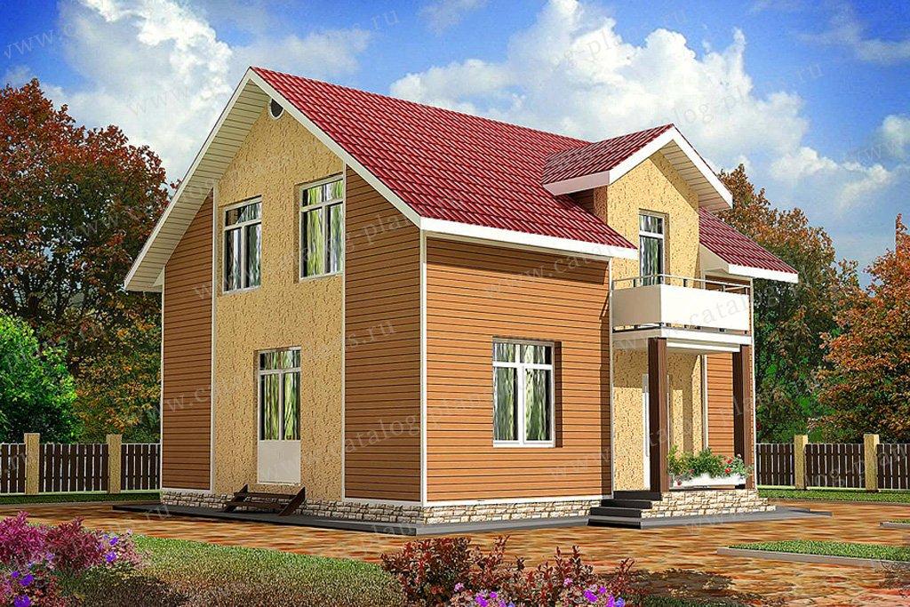 Проект жилой дом #59-54 материал - газобетон, стиль современный