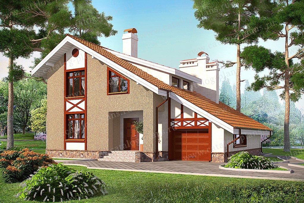Проект жилой дом #59-48 материал - газобетон, стиль фахверк