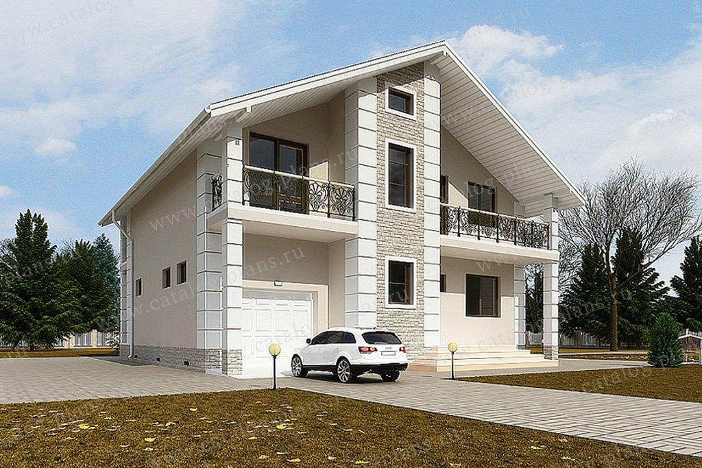 Проект жилой дом #59-58 материал - газобетон, стиль современный