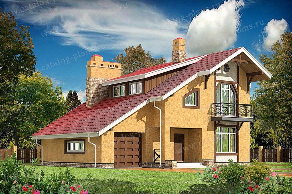 Проект жилой дом #59-50 материал - газобетон, стиль европейский