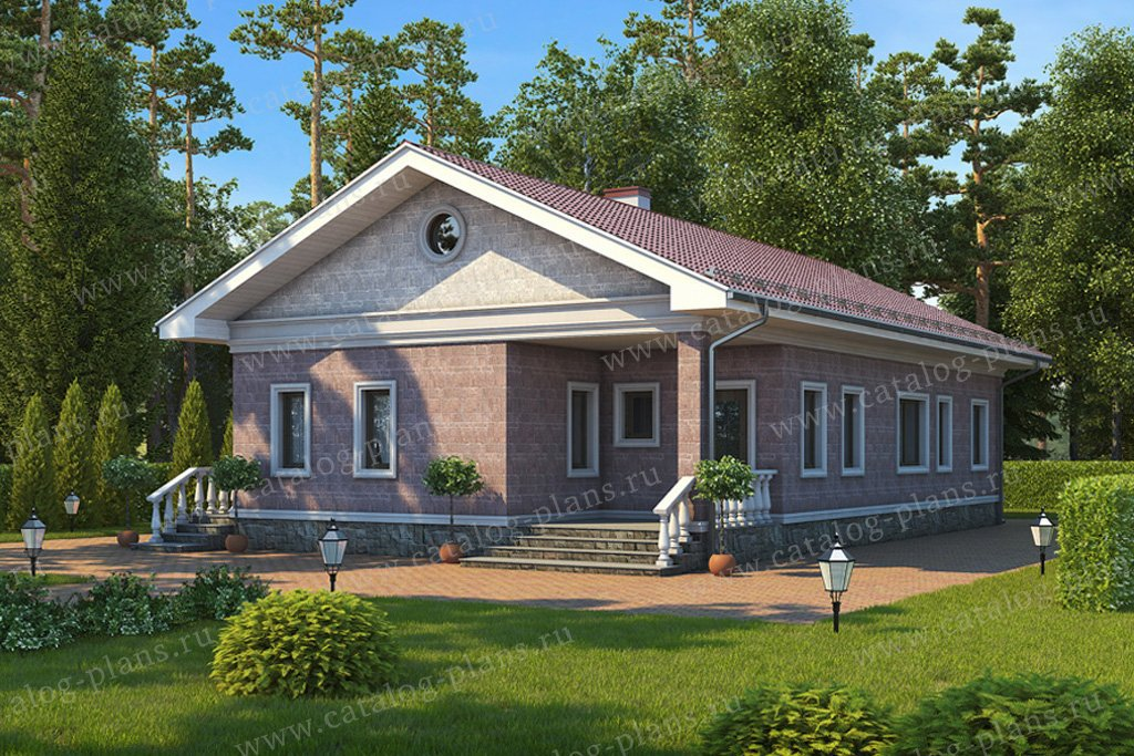 Проект жилой дом #59-61 материал - газобетон, стиль европейский