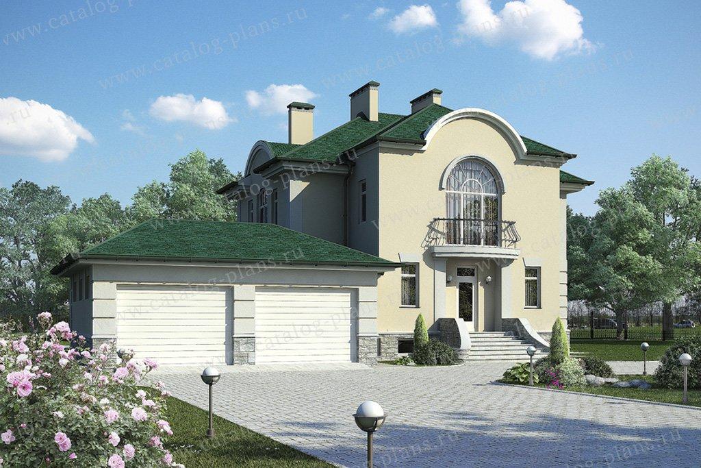 Проект жилой дом #59-78 материал - газобетон, стиль классический
