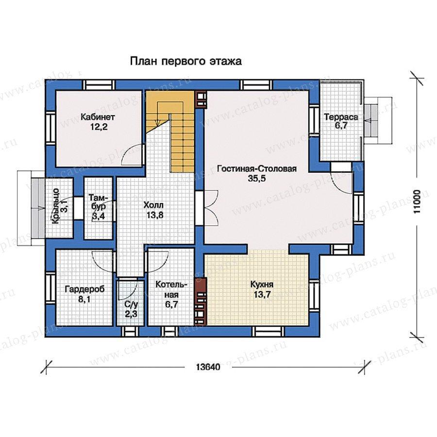 План 1-этажа проекта 57-23