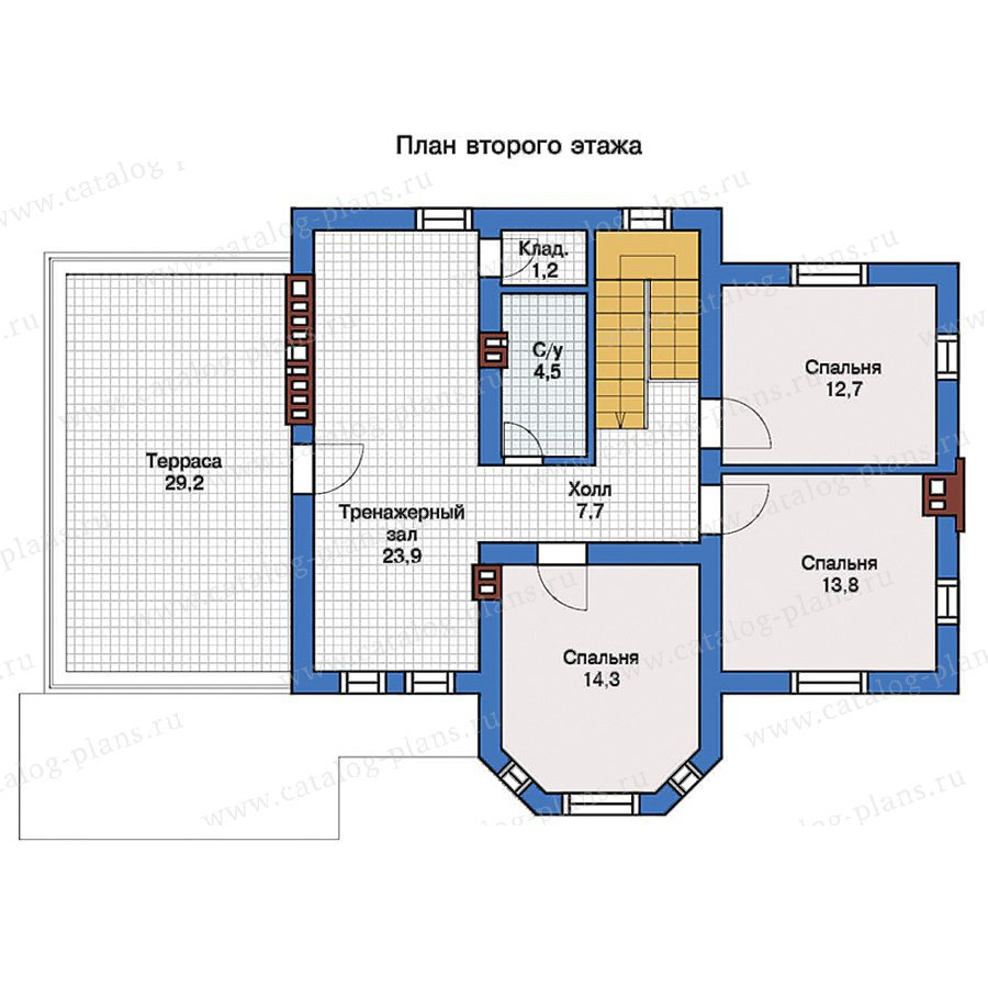 План 2-этажа проекта 57-25