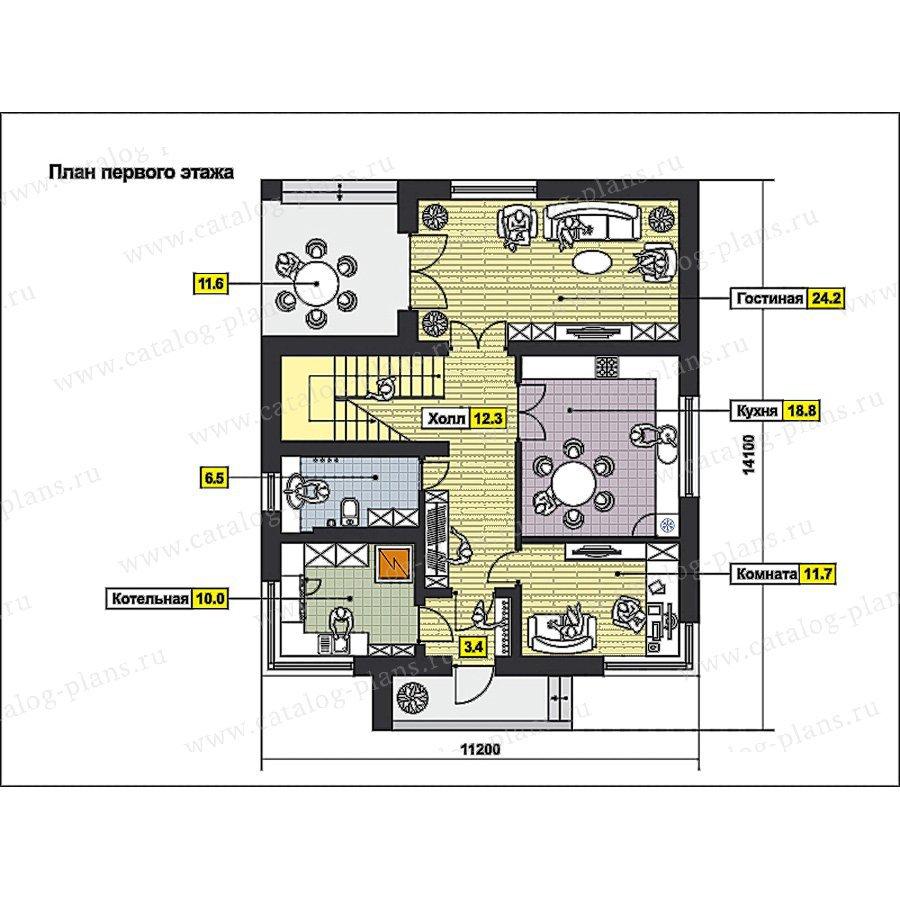 План 1-этажа проекта 59-73