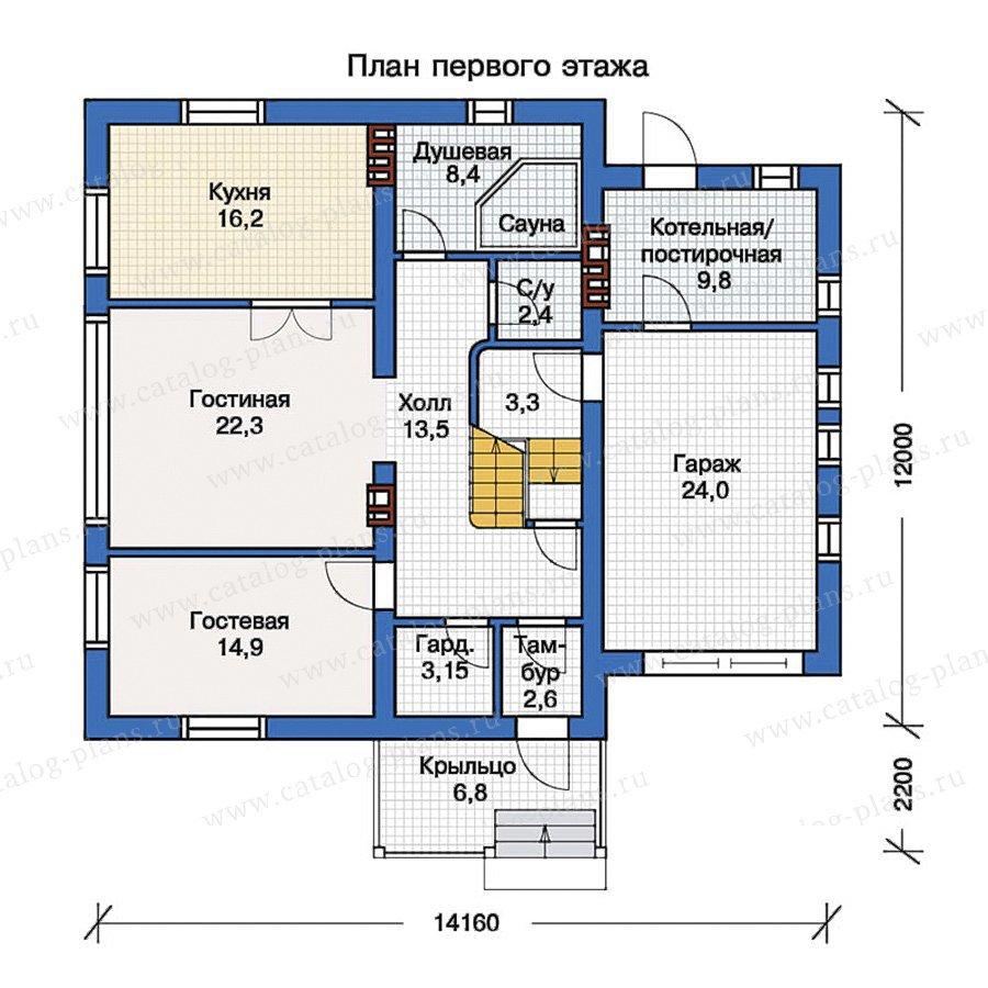 План 1-этажа проекта 57-22K