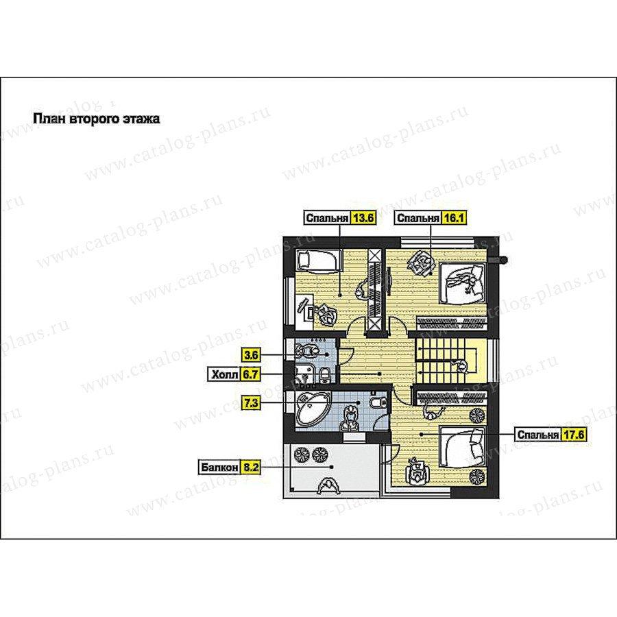 План 2-этажа проекта 59-67