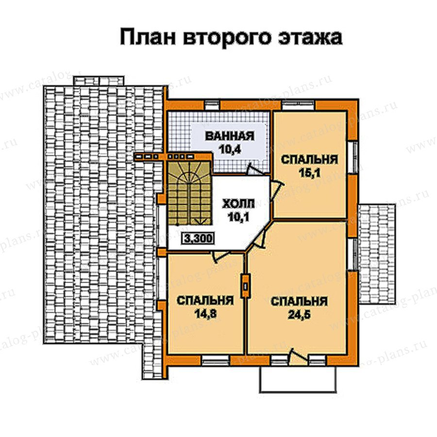 План 2-этажа проекта 59-50