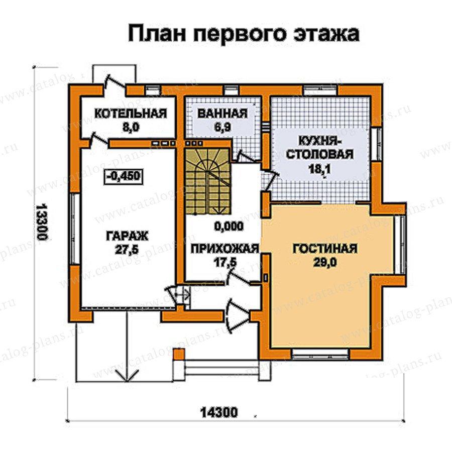 План 1-этажа проекта 59-50