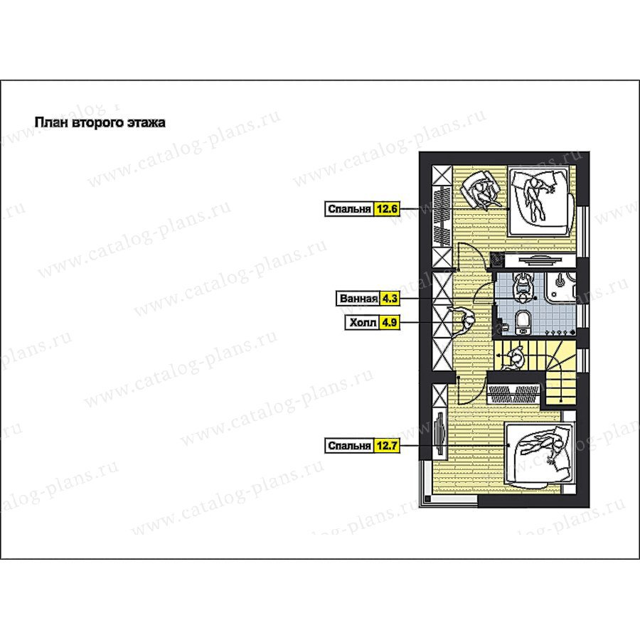 План 2-этажа проекта 59-75