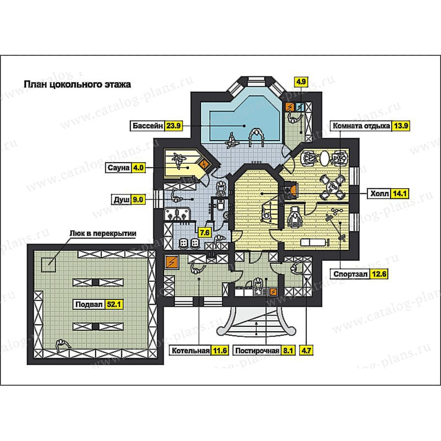 План 1-этажа проекта 59-78