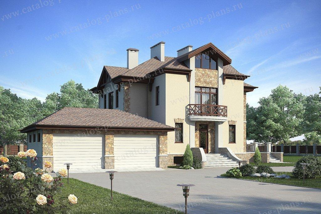 Проект жилой дом #59-78A материал - газобетон, стиль американский