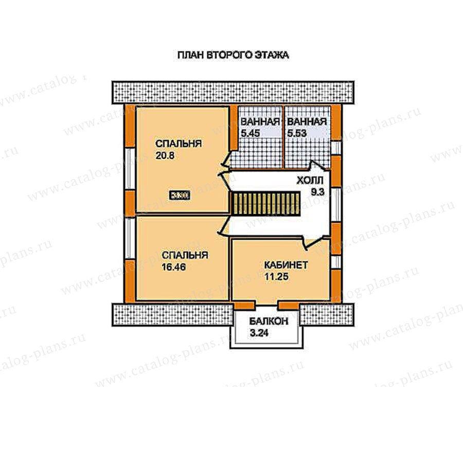 План 2-этажа проекта 59-54