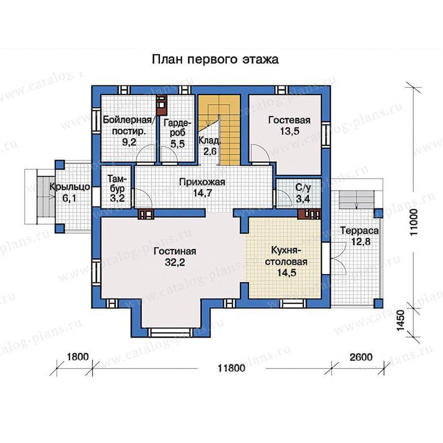 План 1-этажа проекта 57-30