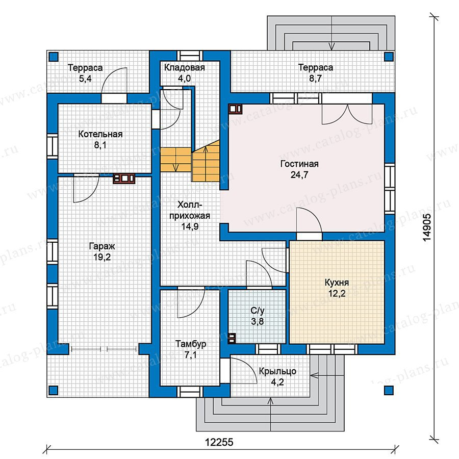 План 1-этажа проекта 59-58